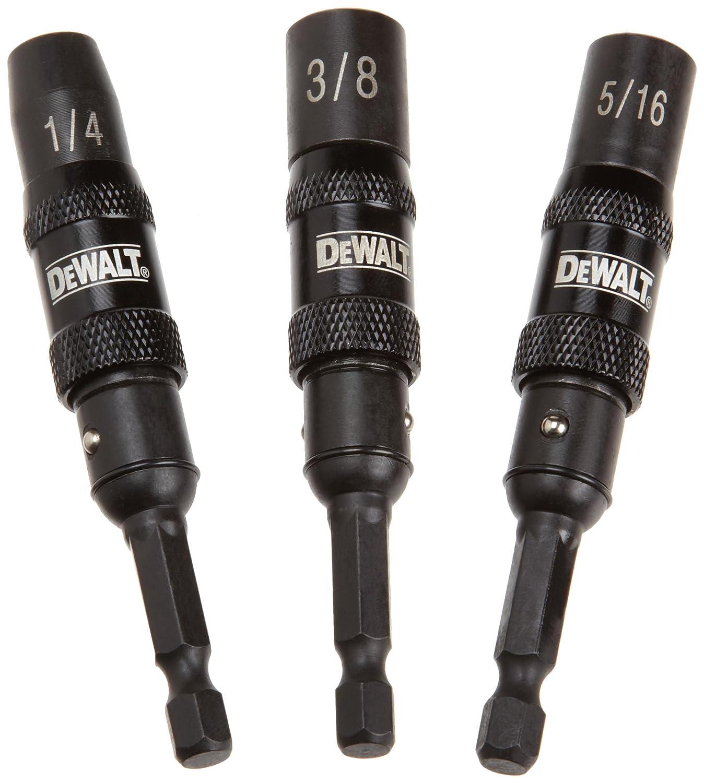 DEWALT DWPVTDRV3 3-Piece Impact-Ready Pivoting Nutsetters, 1/4-Inch, 3/8-Inch, 5/16-Inch
