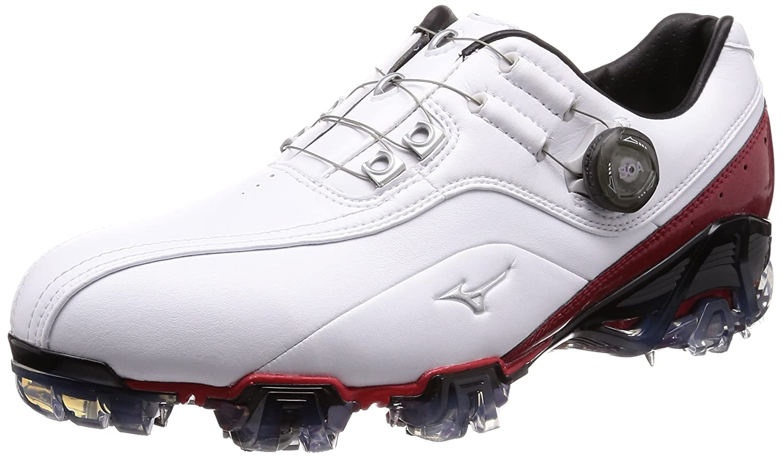 [ミズノゴルフ] ゴルフシューズ ジェネム008 ボア メンズ B077VN4K24 26.0 cm 4E ホワイト/レッド