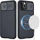 CloudValley Designed for iPhone 12 Pro Max Magnetic Case, 6.7 inch Camera Protection Case with Slide Lens Cover, Built-in Mag