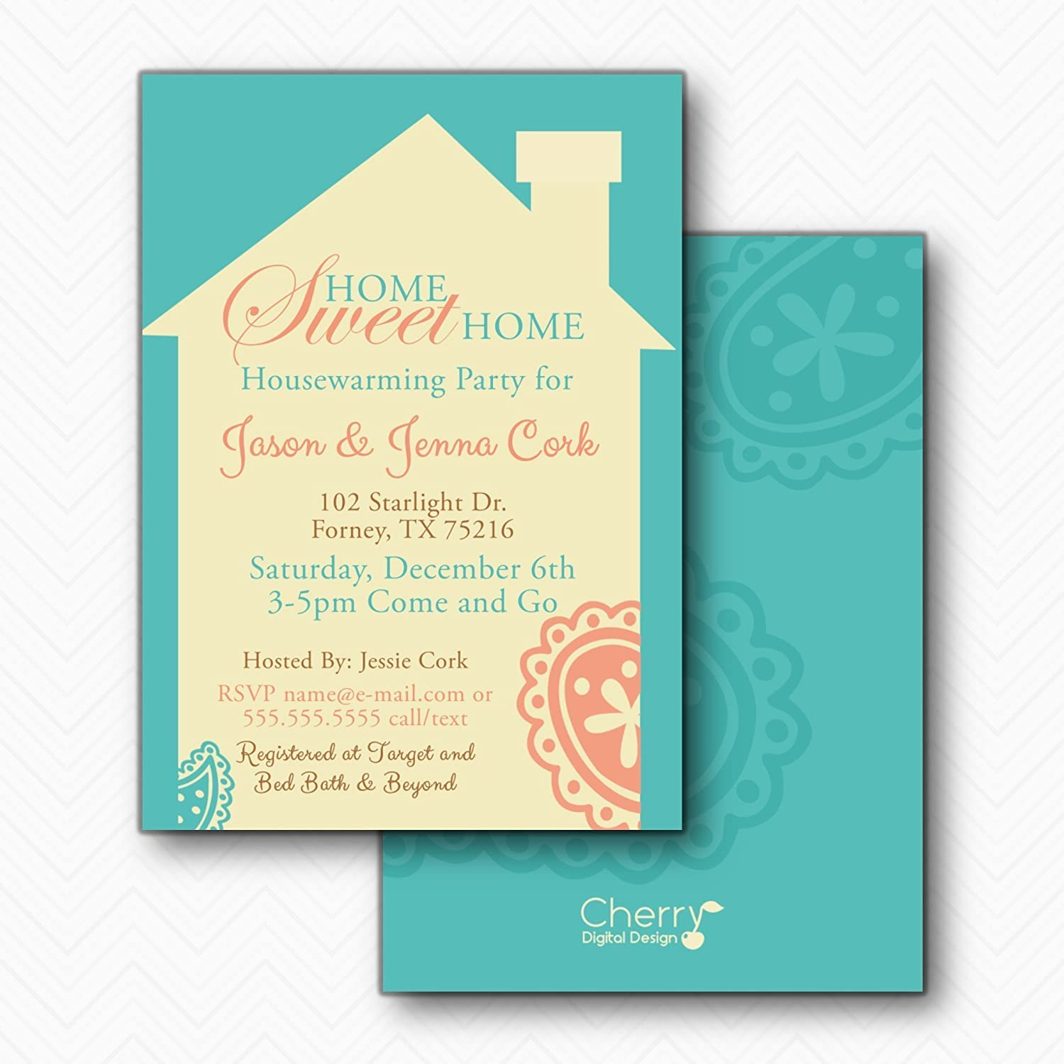Perfect invitations housewarming party collection invitations amazon home sweet home paisley housewarming party invitations stopboris Images