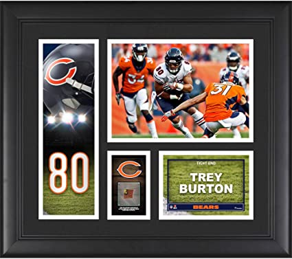 """cd6c4662 Trey Burton Chicago Bears Framed 15"""" x 17"""" Player Collage with a  Piece of"""