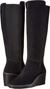 Hazen Madison Fashion Boot, Black Suede