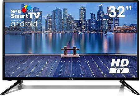 Televisor LED NPG Smart TV Android TDT2 H.265 WiFi USB Grabador (32
