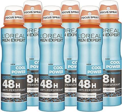 Desodorante antitranspirante LOréal Men Expert Cool Power, 48h ...