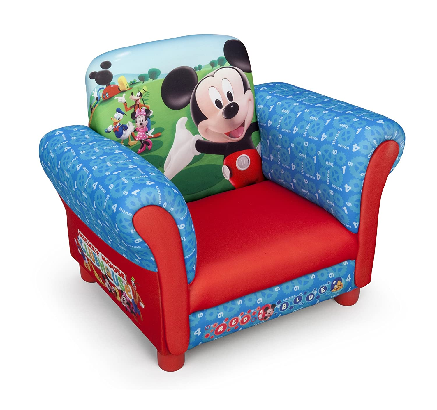 Disney Children s Mickey Mouse Upholstered Chair Amazon Baby
