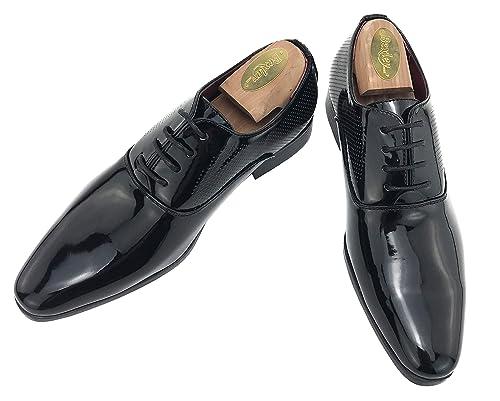 Zapatos Oxford Hombre Fiesta Charol con Cordones para Vestir de Negocios Boda Traje Formal