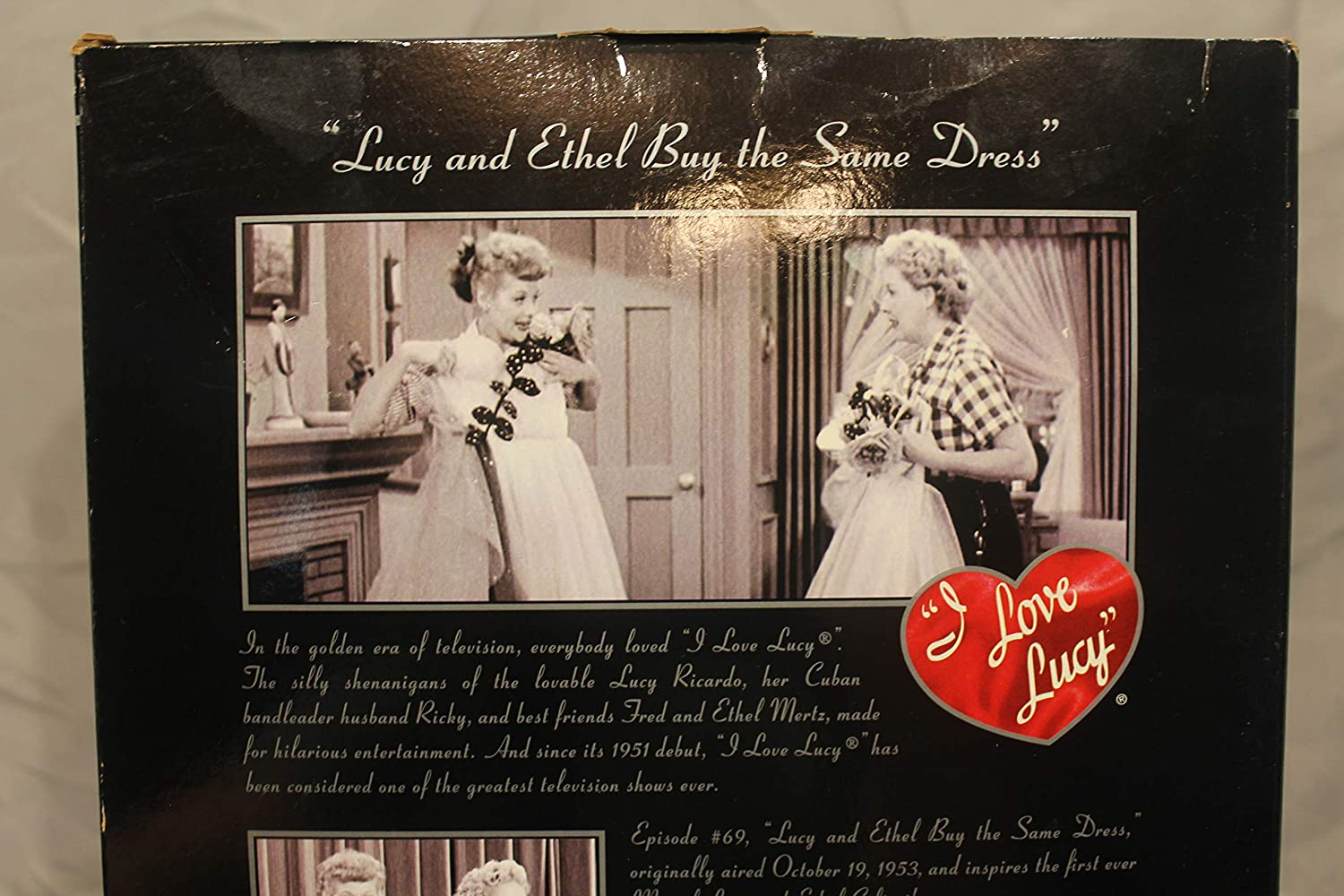 I LOVE LUCY BARBIE LUCY AND ETHEL BUY THE SAME DRESS OUTFIT ONLY
