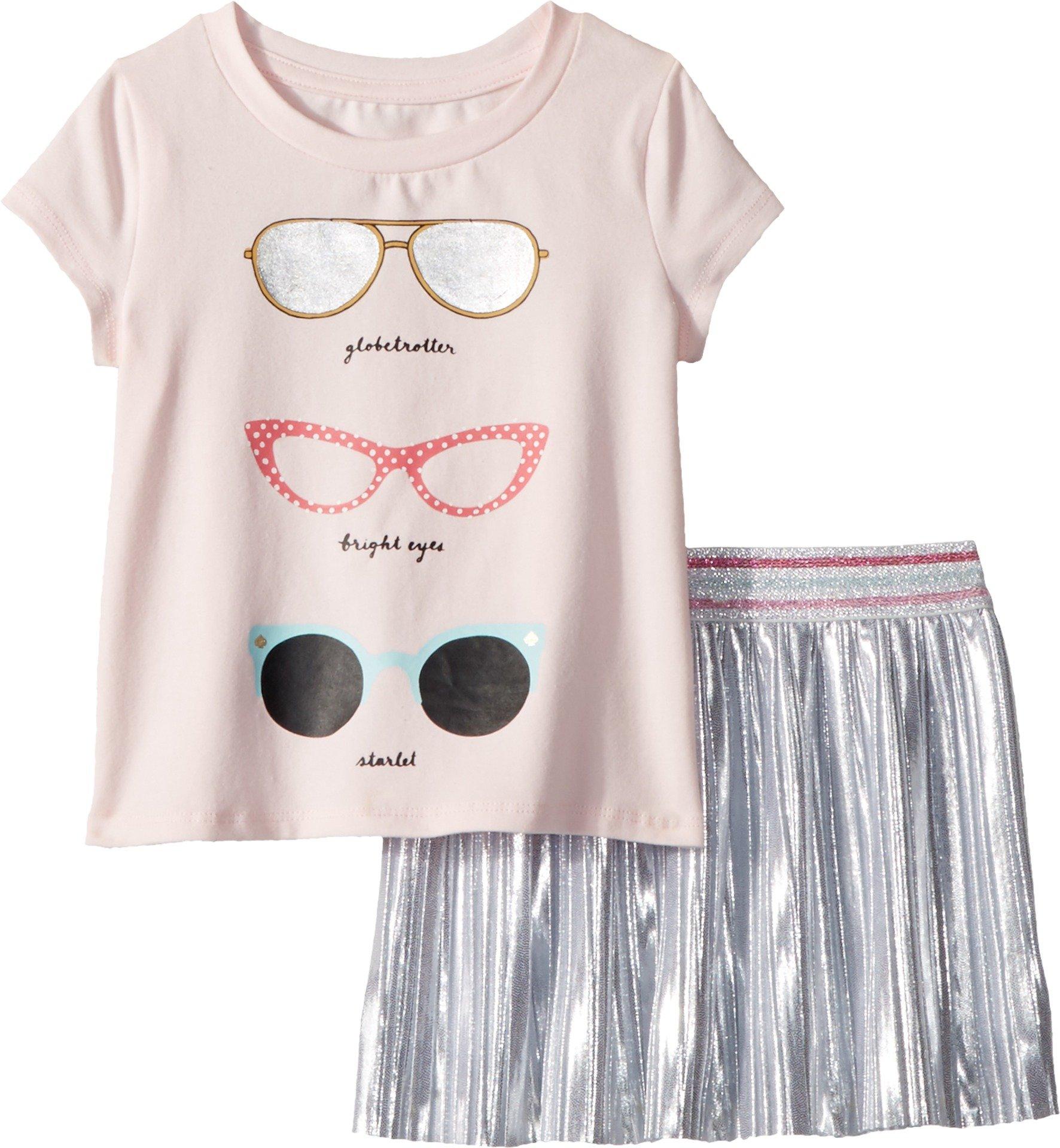Kate Spade New York Kids Baby Girl's Sunglasses Skirt Set (Toddler/Little Kids) Sonata Pink 3T
