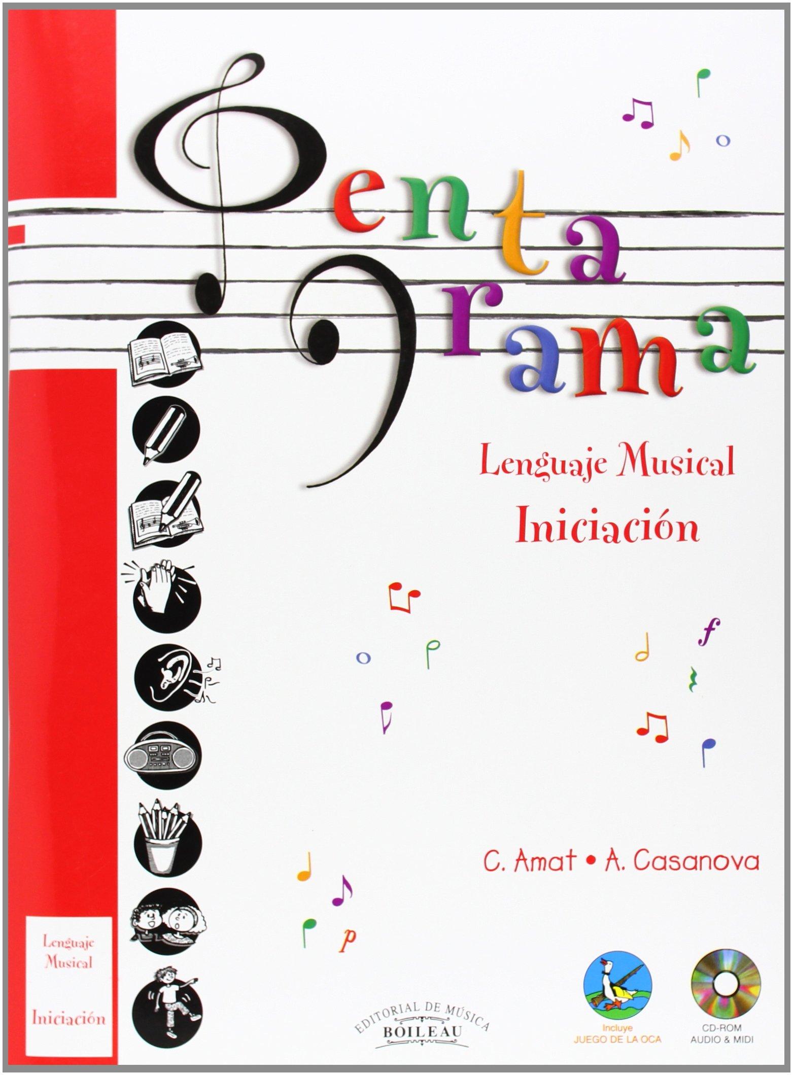 Pentagrama Lenguaje Musical: Pentagrama Pre-lenguaje Musical INICIACIÓN : 1: Amazon.es: Carmen AMAT CUNNINGTON, Anna CASANOVA: Libros