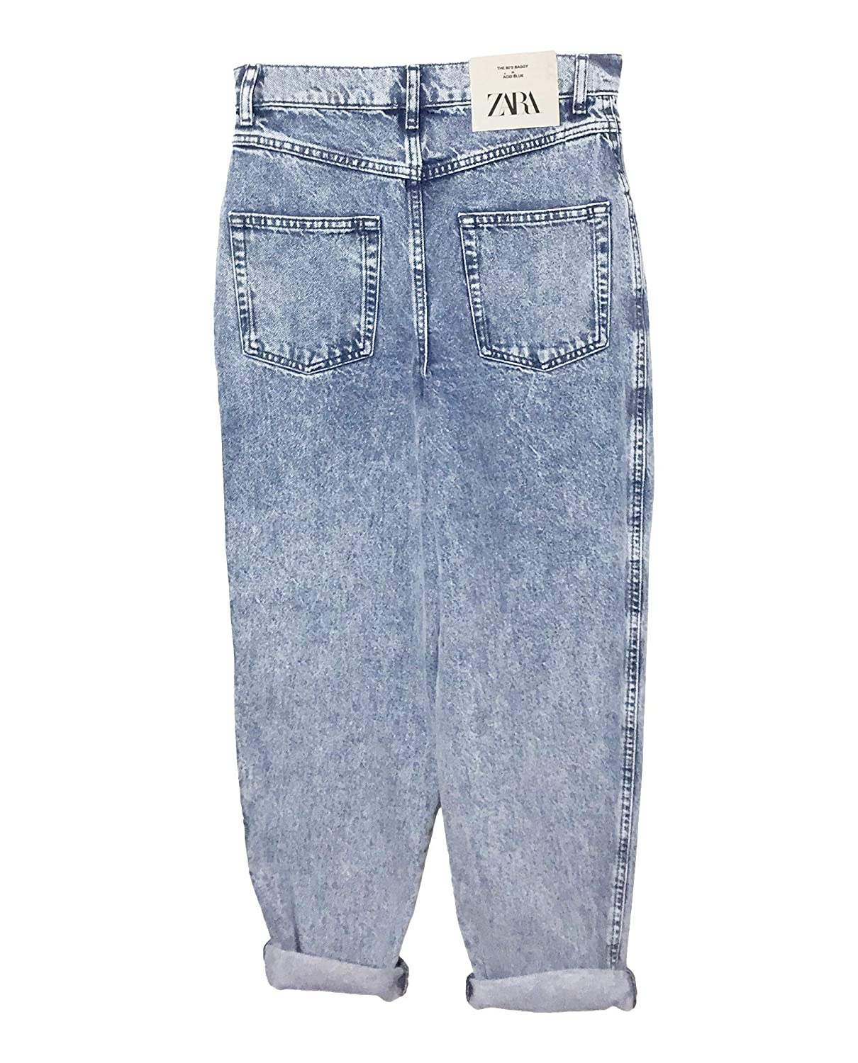 look good shoes sale the cheapest hot new products Zara Women Zw Premium ?80s Baggy Acid Blue Jeans 6840/048 at ...