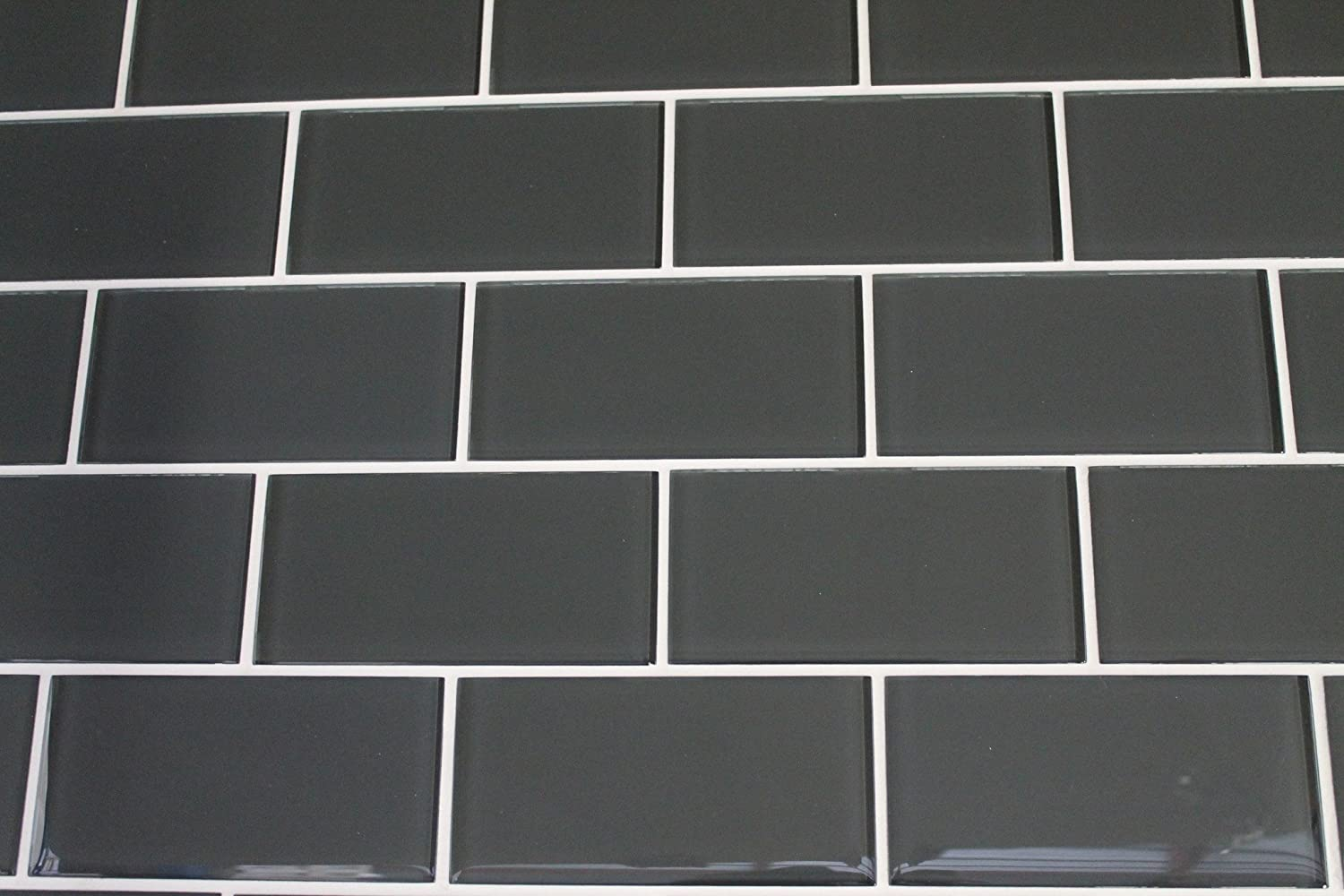 3 x 6 sample piece ash dark grey 3x6 glass subway tiles 3 x 6 sample piece ash dark grey 3x6 glass subway tiles amazon dailygadgetfo Image collections