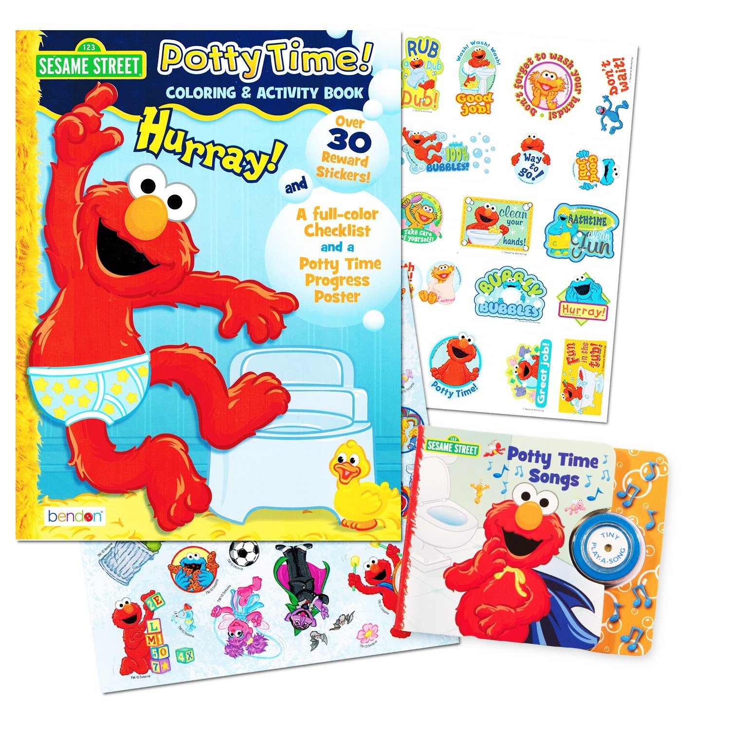 amazon com sesame street elmo potty training book set 2 books amazon com sesame street elmo potty training book set 2 books potty time songs sing along book potty time coloring and activity book potty