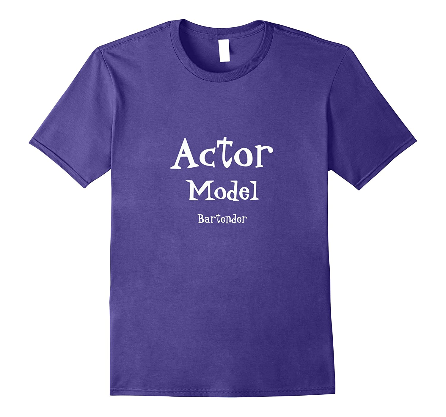 Actor Model Bartender T-shirt for Theater Film and TV-TJ