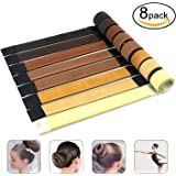 8 pezzi Ciambella per Chignon di DigHealth, Ragazza Donna Capelli, Ciambella per Chignon di Acconciature Chignon, Chignon Capelli, DIY Hairstyle Tools Bun maker French Twist Hair fold Wrap Snap