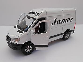 Cuidado de juguete, furgoneta personalizada **cualquier nombre**, Mercedes Sprinter Van