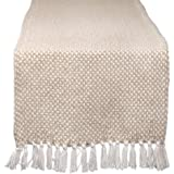DII CAMZ11276 Braided Cotton Table Runner, Perfect for Spring, Fall Holidays, Parties and Everyday Use, 15x72, Stone