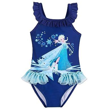 e4d227ba7ceb5 Amazon.com: Disney Elsa Swimsuit for Kids - Frozen Blue: Clothing