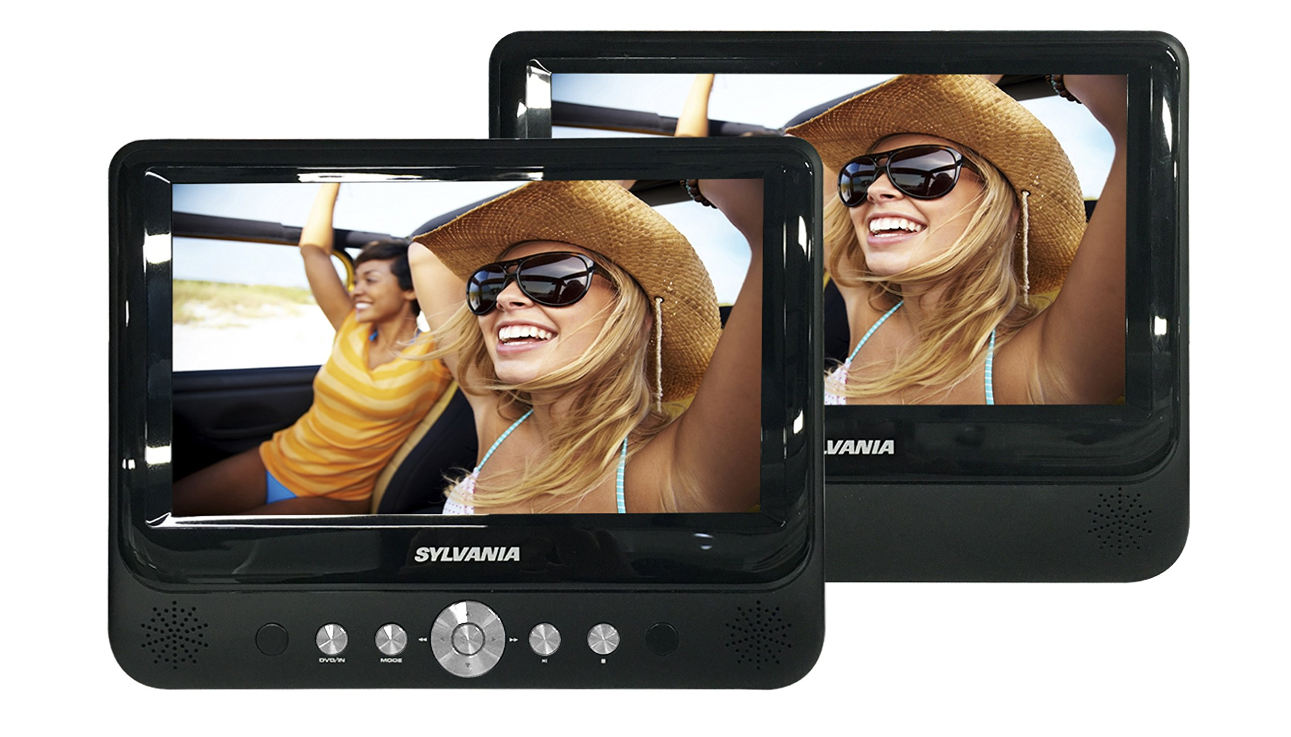 Sylvania SDVD8737 7-Inch Dual Screen Portable DVD Player by SYLVANIA
