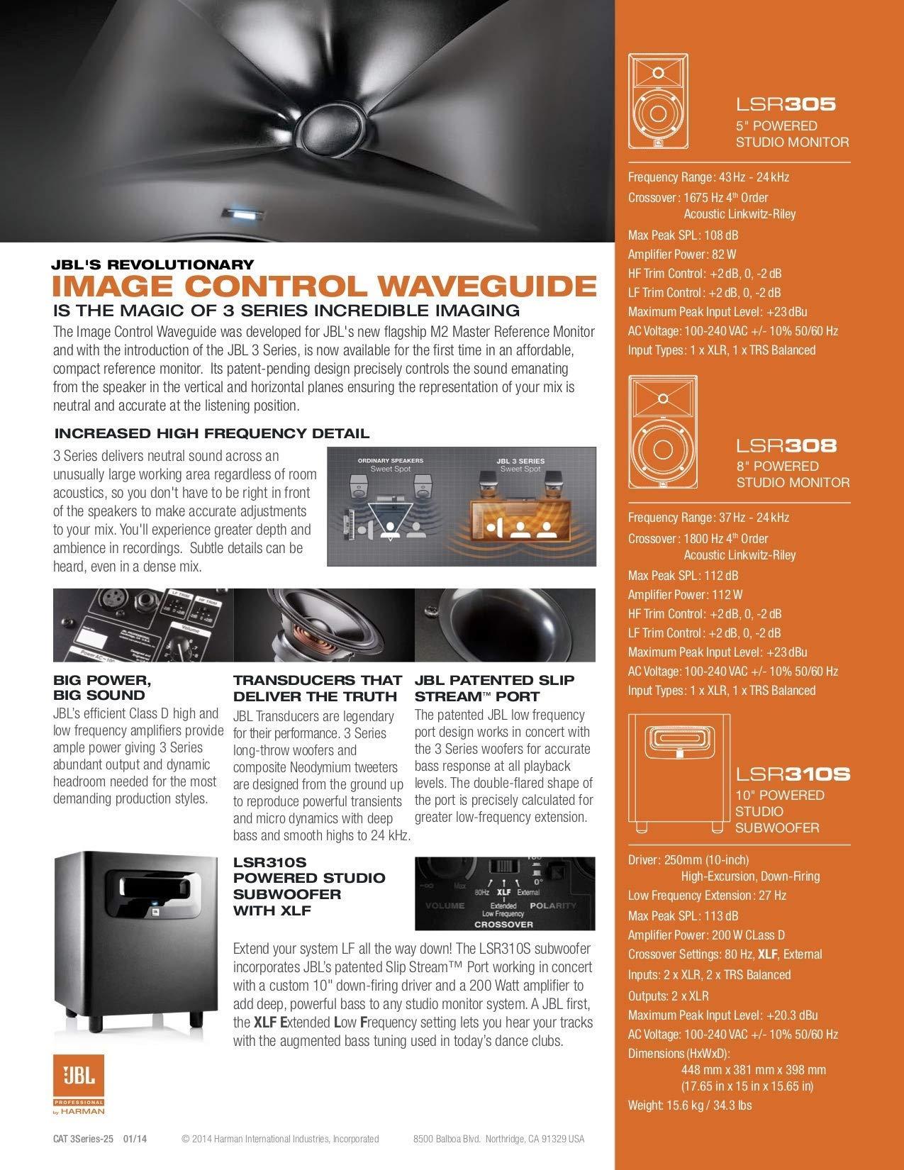 JBL LSR310S 10'' Powered Studio Subwoofer (Renewed) by JBL Professional (Image #7)