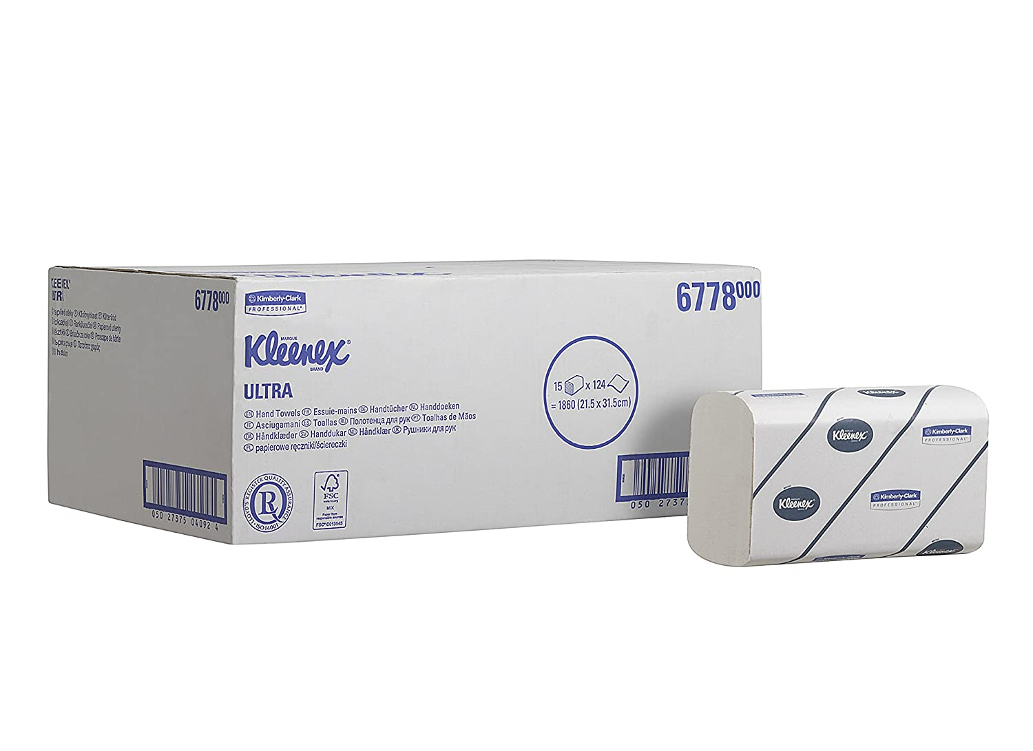 Topnotch Kleenex 6778 Interfolded Hand Towels 2 ply , Medium, White, 15 GC-26