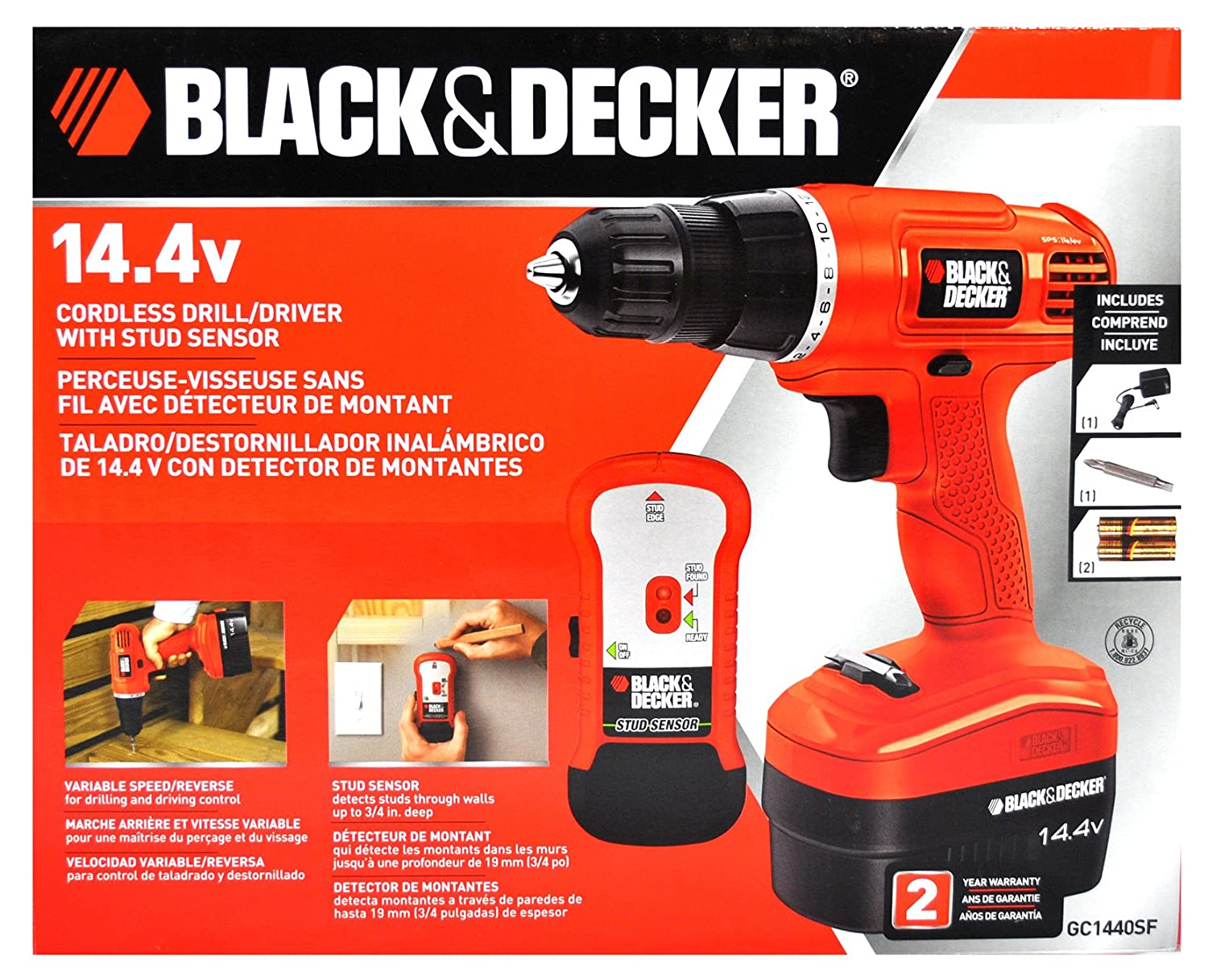 Black and Decker 14 4 Volt Cordless Drill/Driver with