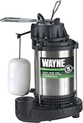 WAYNE CDU980E 3/4 HP Submersible Cast Iron and Stainless Steel Sump