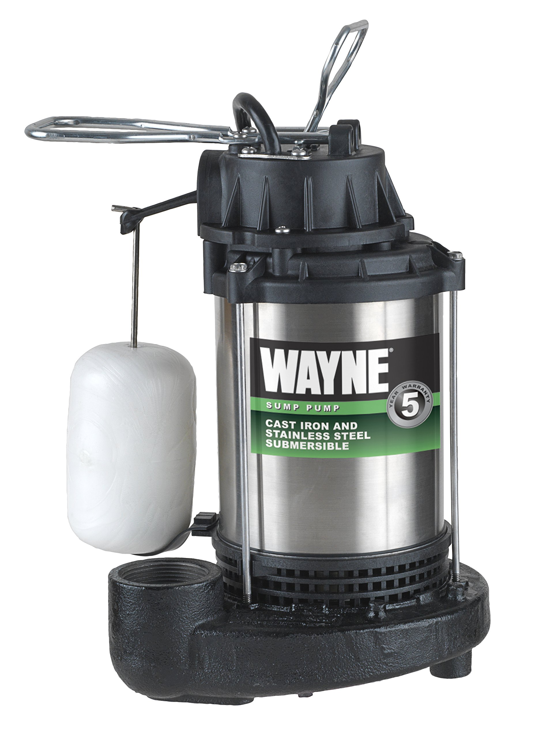 WAYNE CDU980E 3/4 HP Submersible Cast Iron and Stainless Steel Sump Pump With Integrated Vertical Float Switch by Wayne