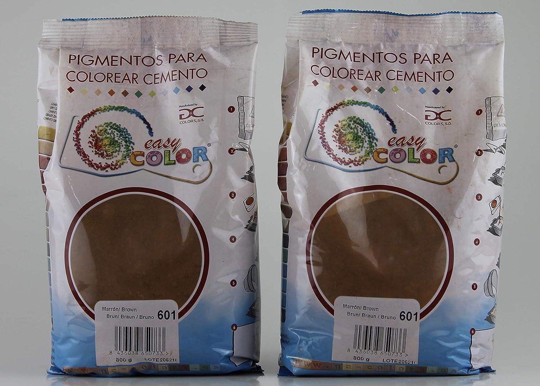 KITS dos bolsas de 800 g. Easy Color pigmento Marrón 601 ...