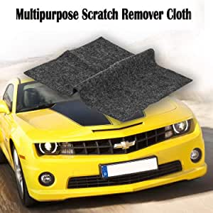 [2pack]Multipurpose Scratch Remover Cloth,Car Paint Scratch Repair Cloth,Car Scratch Remover, Nano-meter Scratch Removing Cloth for Surface Repair,Scuffs Remover, Scratch Repair and Strong Decontamin