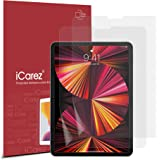 iCarez Anti-Glare Matte Screen Protector for Apple iPad Pro 11 2021 / 2020 / 2018 / iPad Air 4 [2-Pack] Premium Paper Feel PE