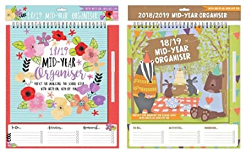 2018-19 Academic Calendar Mid-Year Organiser Home-School Organiser with Pen  in Hanging Pack (Woodland Design)
