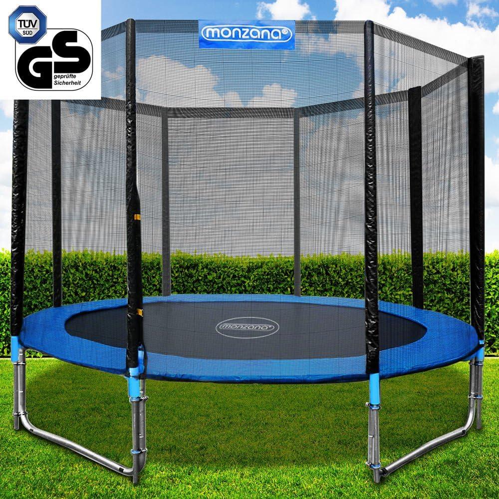 monzana Trampolín para jardín Set Completo + Cobertura Cama elástica de diámetro a Escoger 244 305 366 y 426 cm