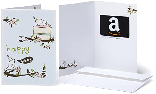 Amazon Gift Card In A Greeting Birthday Birds Design