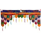 Bouddha Figurines/Billy Held bouddhiste de porte behang chukor 99 cm x 40 cm Tibet brocart Tenture
