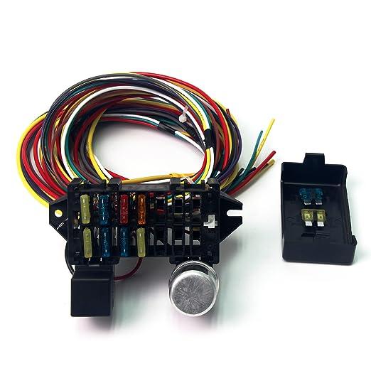 amazon com wisamic 10 circuit basic wiring harness fuse box street rh amazon com Auto Fuse Box Truck Fuse Box