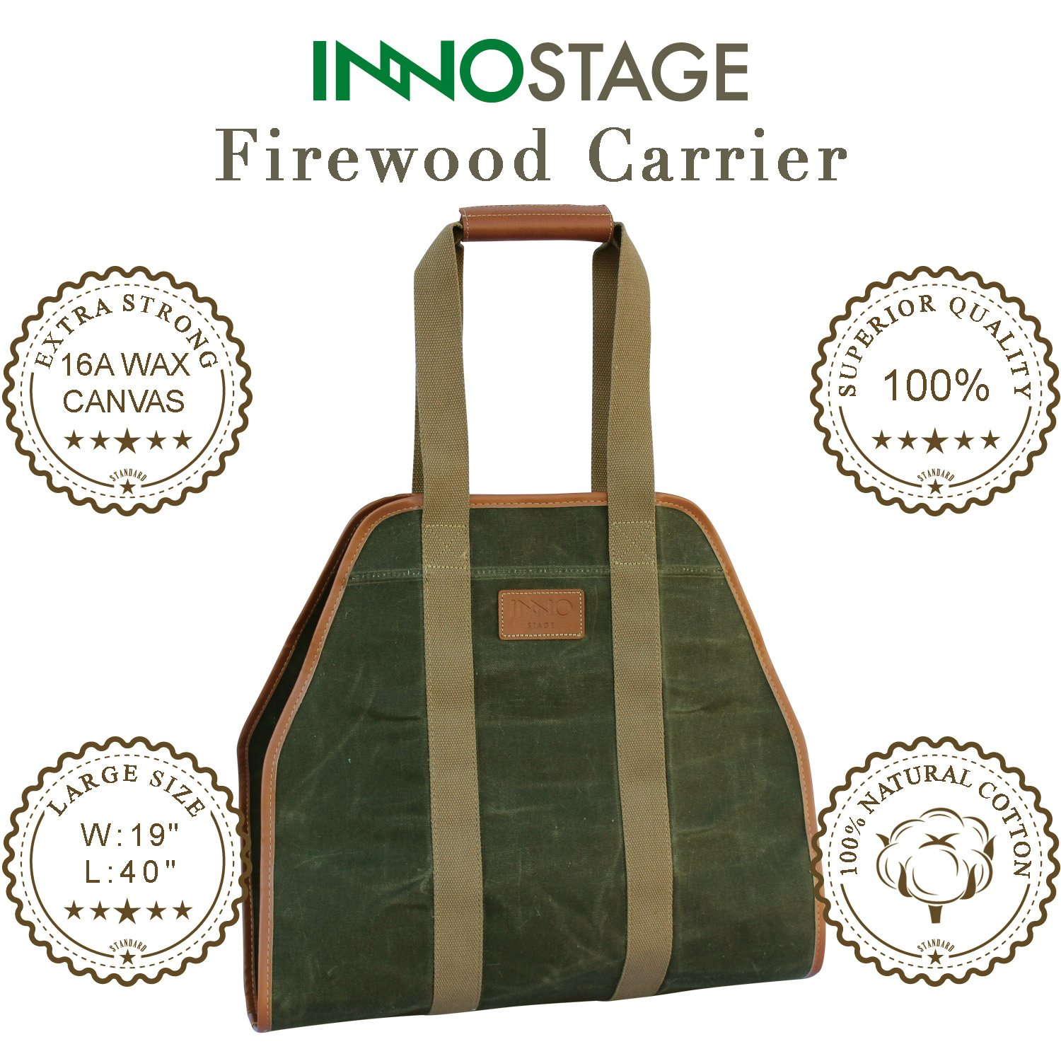 Inno Stage Waxed Canvas Log Carrier Tote Bag 40 Quot X19