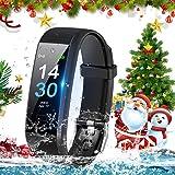 TOPLUS fitnes/hälsa fitnessklocka spårare armband smart klocka vattentät IP 68 smartwatch smartarmband för…