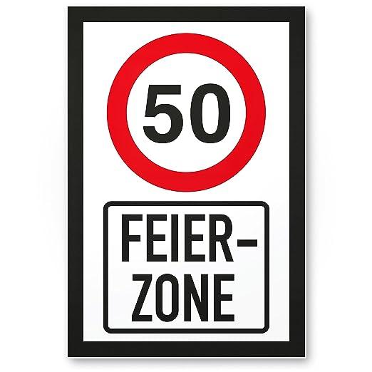 DankeDir!. 50 años Fiesta Zona - Letrero, plástico Regalo de ...