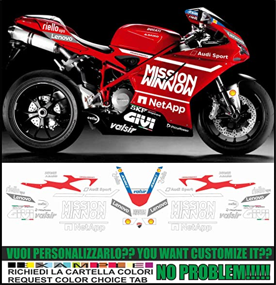 Kit adesivi Decal stikers Ducati 848 1098 1198 Moto GP 2019 Tribute Replica: Amazon.es: Coche y moto