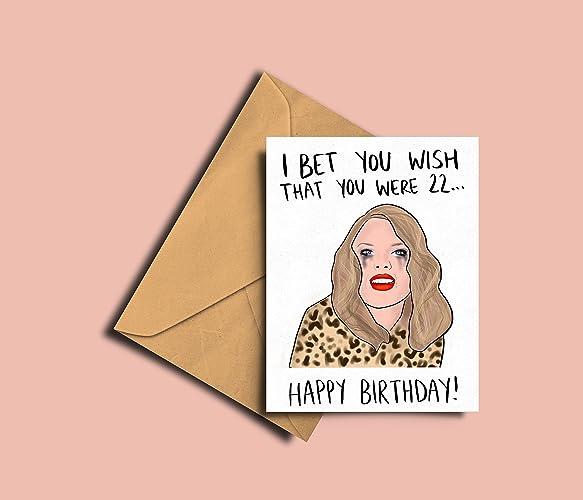 Funny Taylor Swift Birthday Card