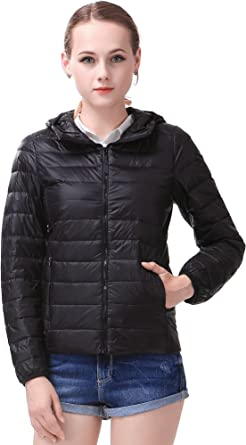 Wofupowga Womens Casual Thin Quilted Autumn Winter Lightweight Outside Parka Jacket