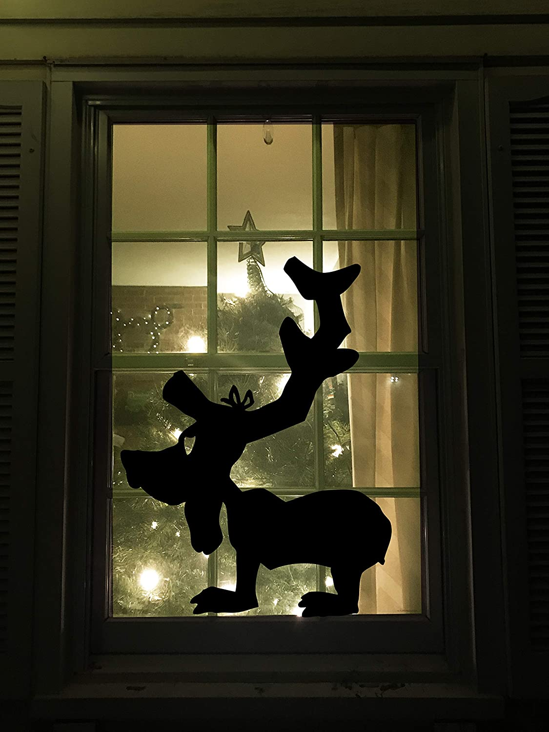 Max Dog Decal from The Grinch Holiday Christmas Window Decal How the Grinch Stole Christmas Window Silhouette