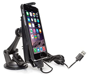 iBolt iPro2 MFI Approved Car / Desk Dock / Mount / Charger / for iPhone 5 / 5c / 5s / 6 / 6+ with integrated Lightning Cable - Retail Packaging - Black