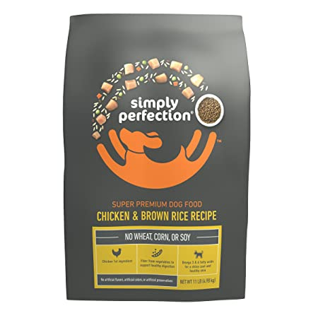 Simply Perfection Super Premium Chicken and Brown Rice Recipe Dog Kibble