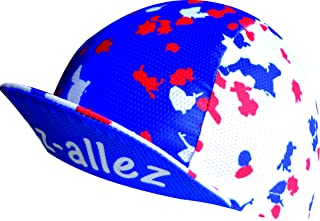 EKEKO SPORT Cappellino microperforatto VSYSTEM, disegno Allez Allez Francia, per il ciclismo, la corsa, il trailrunning e il triathlon.