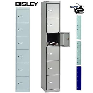 BISLEY Garderobenschrank | Schließfach mit 6 Schließfächer | Spind ...