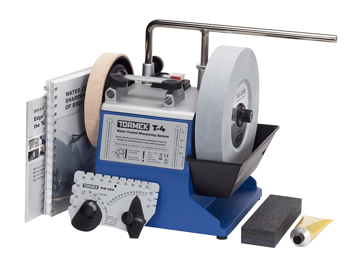 Water Cooled Tool Sharpening System Tormek T4 with an 8-Inch Stone. A Tormek Sharpening System That's also a Great Value.