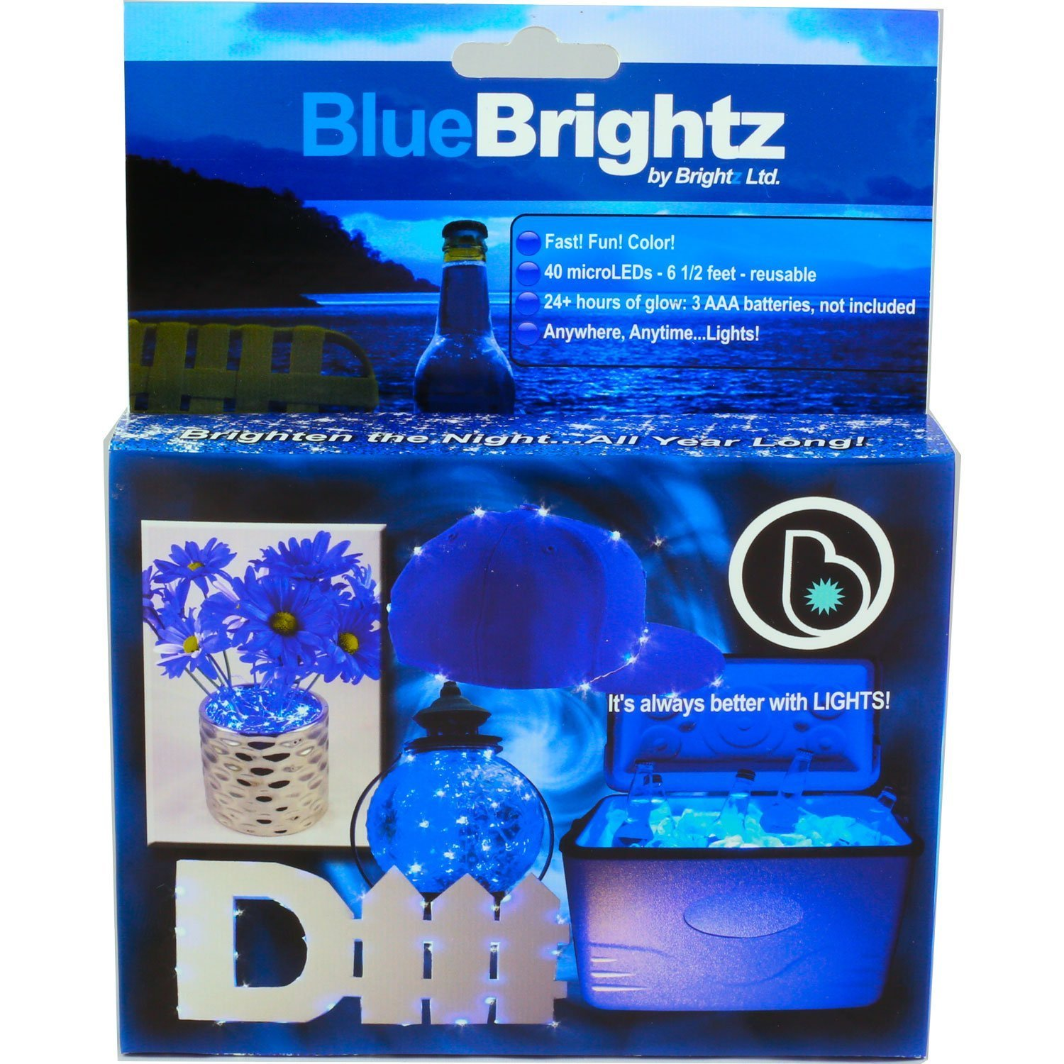 Brightz, Ltd. Blue Everyday Color Brightz Creative Do It Yourself LED Fairy Light Accessory by Brightz, Ltd.