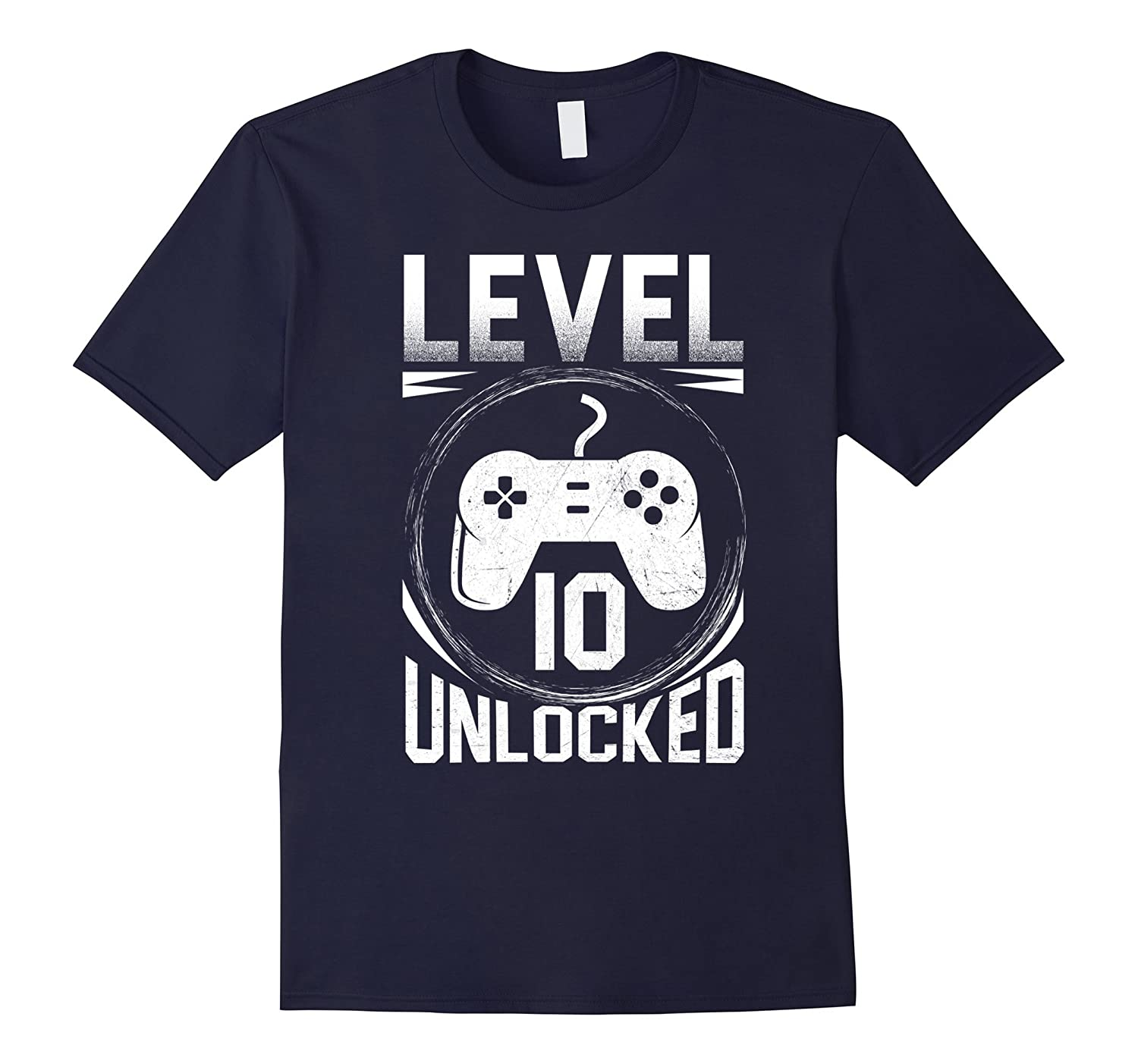 10th Birthday Shirt Level 10 Unlocked Shirt Video Games-FL