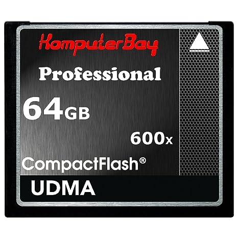 Komputerbay Professiona - Tarjeta Compact Flash 64GB, CF 600X, 90MB/s, UDMA 6 RAW, velocidad extrema, 64GB